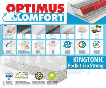 80*185 Kingtonic Pocket Eco Strong Matracis