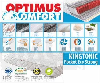 174*200 Kingtonic Pocket Eco Strong Matracis