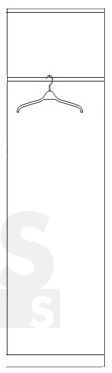 Clif CLFS711 Drēbju skapis