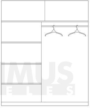 Dome DO1-15 Drēbju skapis