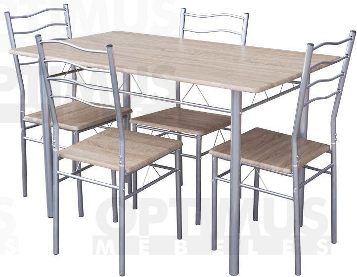 Top 22550 T4C Ēdamistabas galds ar krēsliem