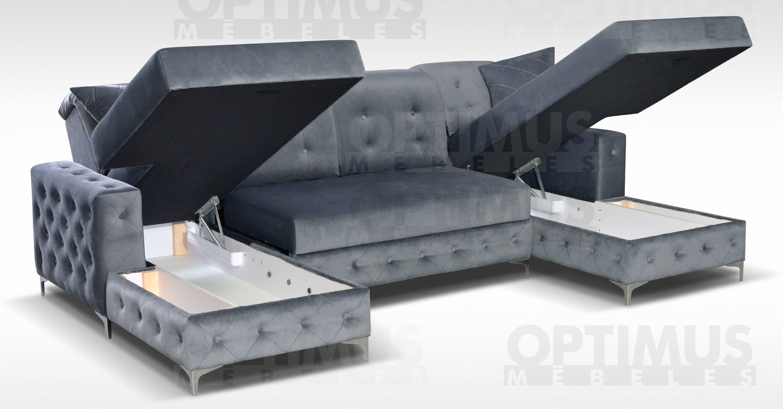 Verso Stūra dīvāns U veida