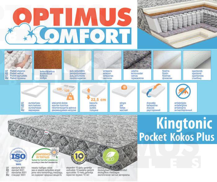 160*200 Kingtonic Pocket kokos Plus Matracis