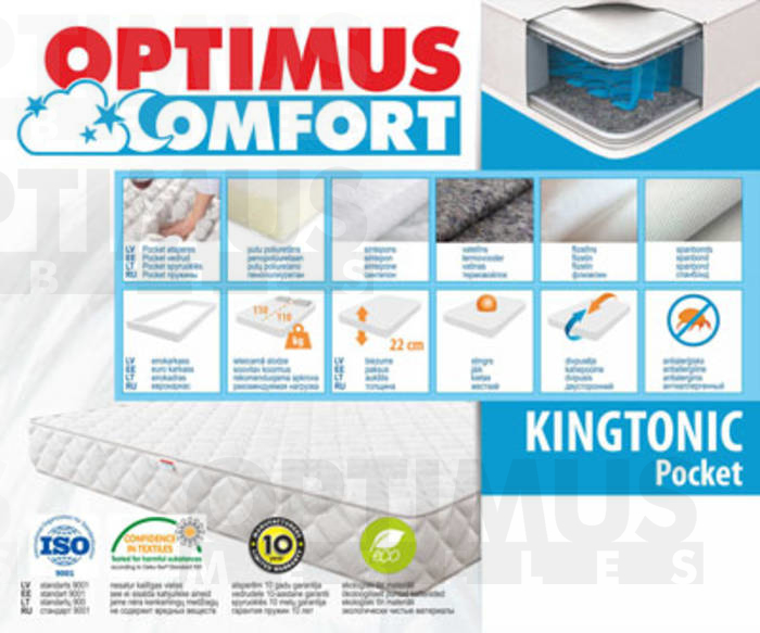 160*200 Kingtonic Pocket Matracis