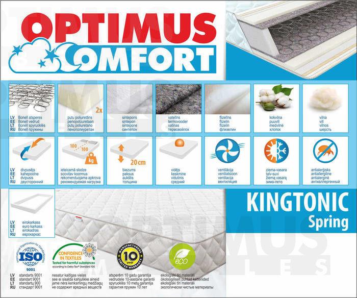 160*200 Kingtonic Spring Matracis