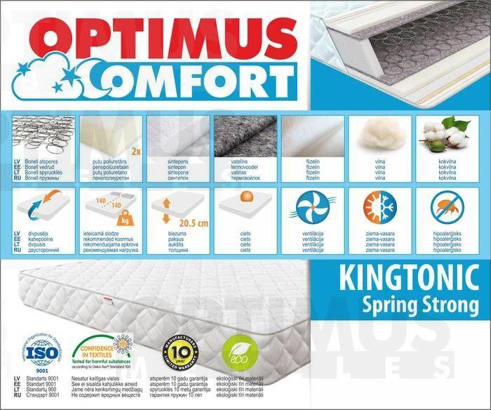 120*200 Kingtonic Spring Strong Matracis