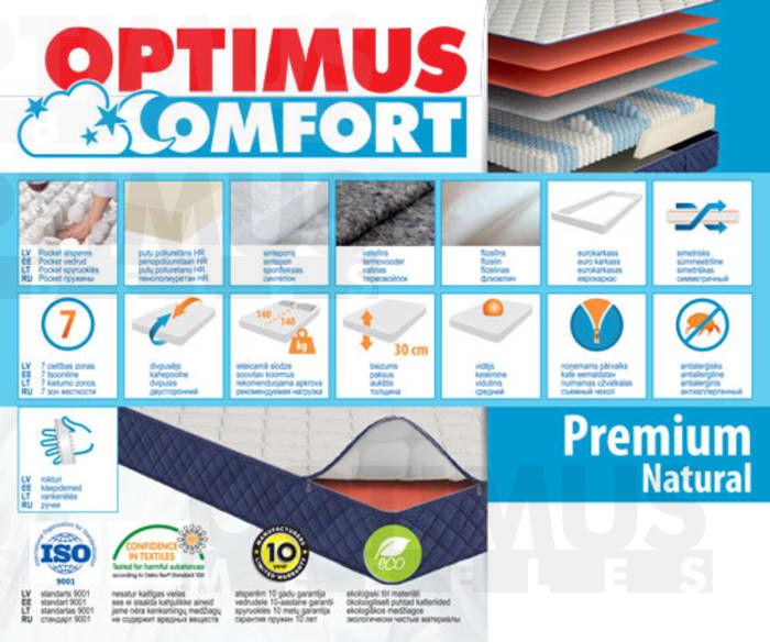 160*200 Premium Natural Matracis