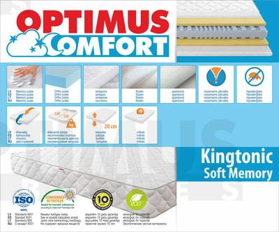 160*200 Kingtonic Soft Memory Matracis