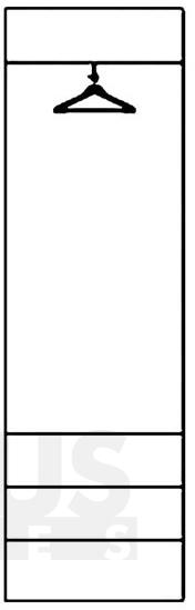 Selene 22 S Drēbju skapis
