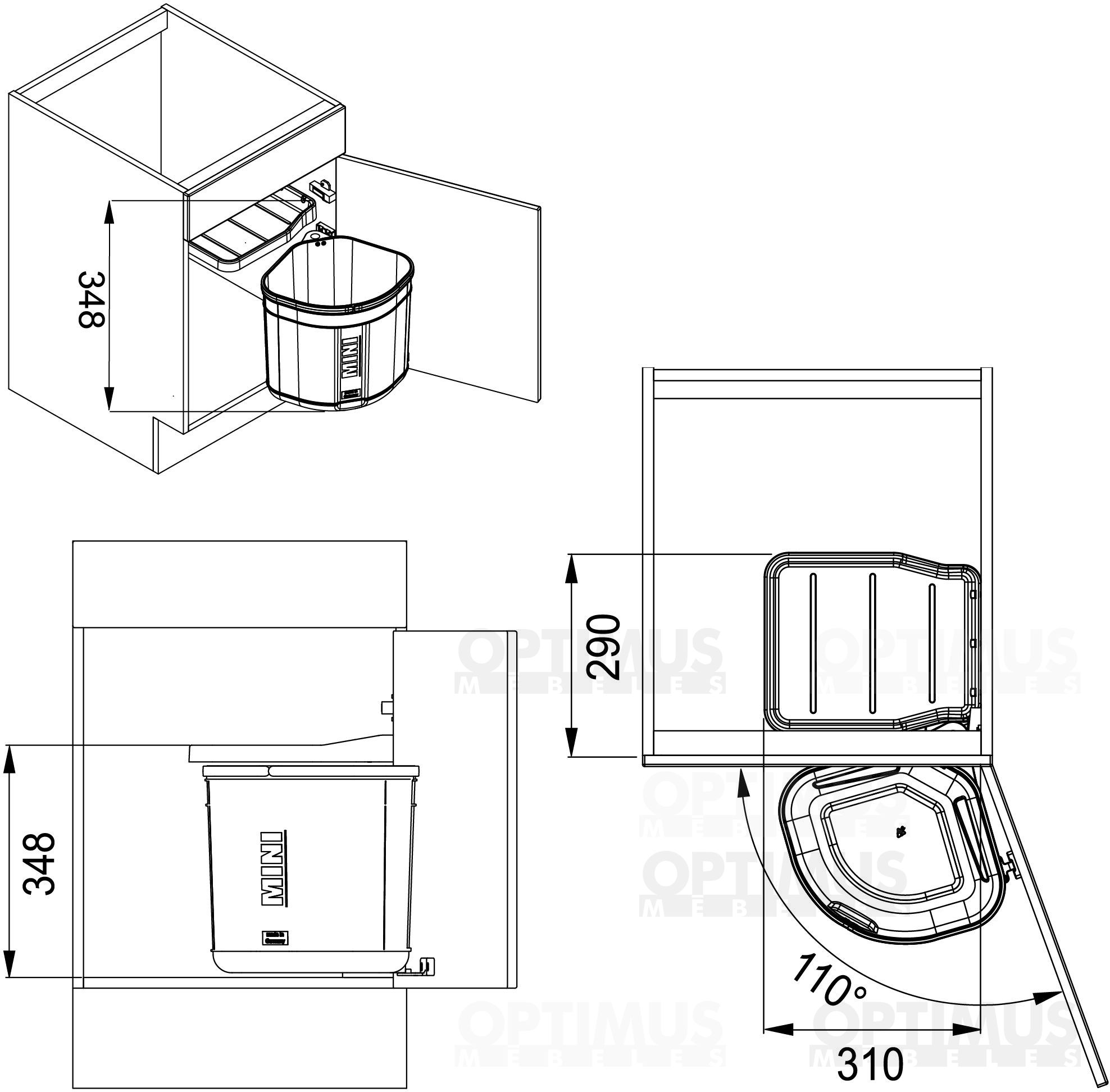 FRANKE Sorter 17.5L 1210176518 Atkritumu kaste
