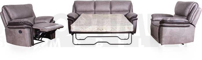 Elmore 1636 3B1R1R + Krēsli  (Komplekti) Dīvāns ar krēsliem