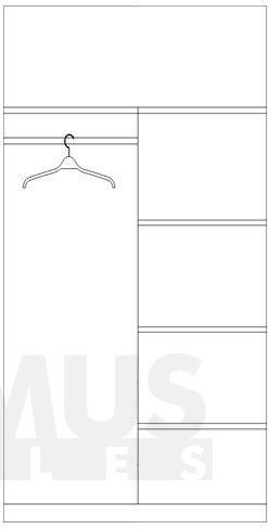 Optimus 2D Drēbju skapis