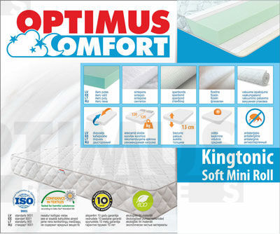 80*200 Kingtonic Soft Mini Roll Matracis