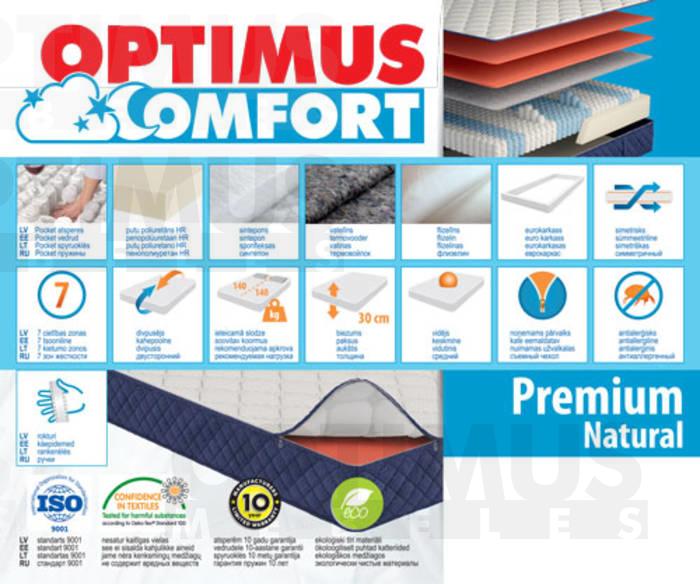 90*190 Premium Natural Matracis