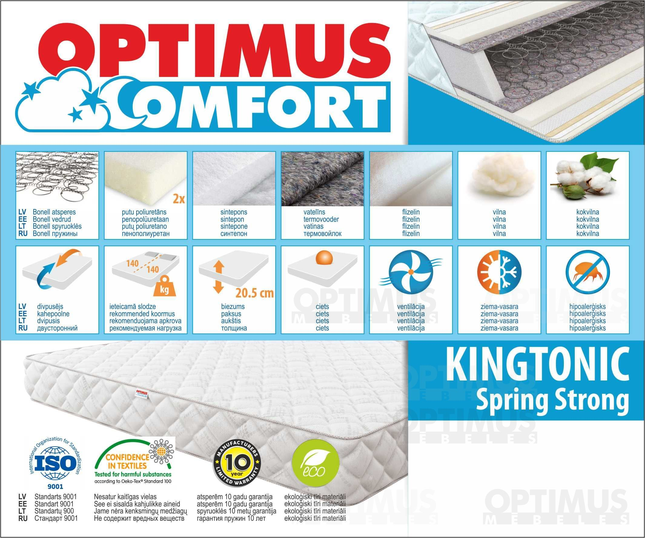 90*200 Kingtonic Spring Strong Matracis
