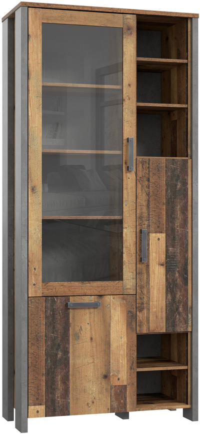 Clif CLFV721 Plaukts ar stiklu / vitrīna