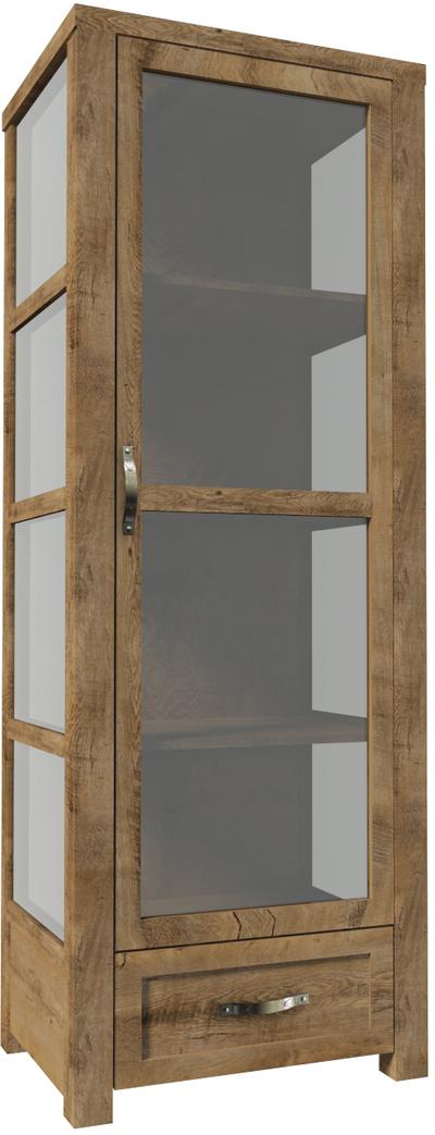 Nevada W1D Plaukts ar stiklu / vitrīna