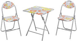 Meisa SQ Ēdamistabas galds ar krēsliem