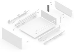127919312 NEW SMBOX BACKBOARD HOLDER 16 MM FOR SIDE PANEL H.112,  - LEFT Atvilktņu furnitūra