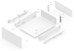 127919311 NEW SMBOX BACKBOARD HOLDER 16 MM FOR SIDE PANEL H.112, - RIGHT Atvilktņu furnitūra