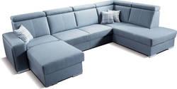 Ontario( BL+O+2F+OP) Stūra dīvāns U veida