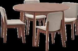 Ēdamistabas galds ar krēsliem