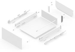127919011 NEW SMBOX BACKBOARD HOLDER 16 MM WITHOUT GALLERY RAILING,- RIGHT Atvilktņu furnitūra