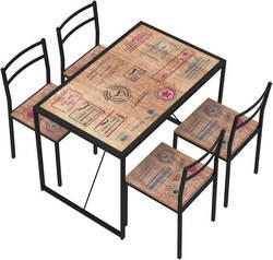 Randi 22344AB Ēdamistabas galds ar krēsliem