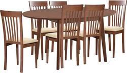 Aroma 6 Ēdamistabas galds ar krēsliem