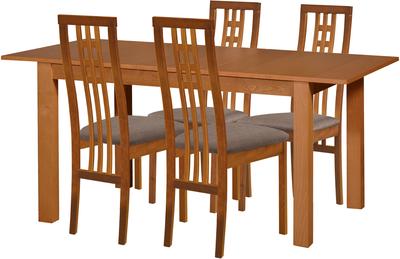 Edison/Rosalia Ēdamistabas galds ar krēsliem