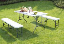 Fold Ēdamistabas galds ar krēsliem