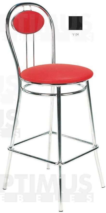 Tiziano hoker chrome Bāra krēsls / hocker