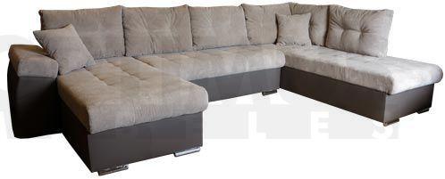 Zyta M Stūra dīvāns U veida