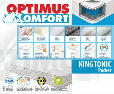 180*200 Kingtonic Pocket Matracis