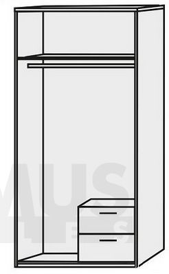 Niko NIKS81 Шкаф для одежды с вешалкой