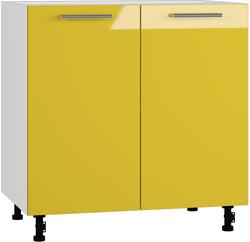 BlanKit D80 White+Yellow.G371 Köögikapp