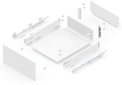 127919311 NEW SMBOX BACKBOARD HOLDER 16 MM FOR SIDE PANEL H.112, - RIGHT Фурнитура для выдвижных ящиков