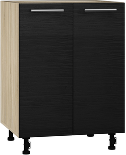 BlanKit D60 Sonoma+OakBlack.381 Köögikapp