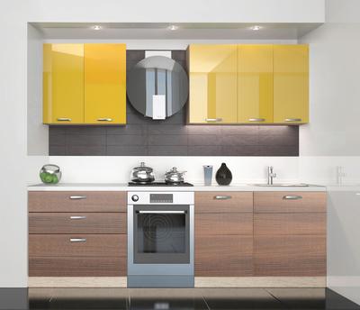 BlanKit 180 Yellow.G371/ChicoryDark.M395 Köögimööbli komplekt
