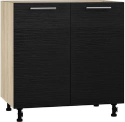 BlanKit D80 Sonoma+OakBlack.381 Köögikapp