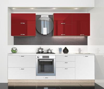 BlanKit 260 Bordo.G410/OakWhite.266 Köögimööbli komplekt