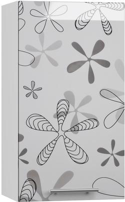BlanKit G40 White+Flower.G432 Köögikapp